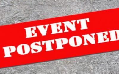 Event at severedwing Postponed