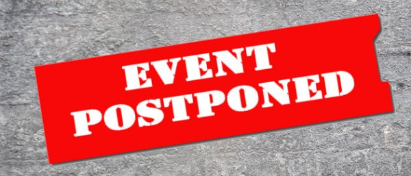 Event at severedwing Postponed